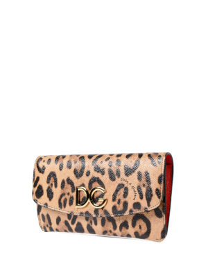 Dolce & Gabbana: wallets & purses online - Inner zip pouch leather wallet