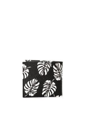Dolce & Gabbana: wallets & purses online - Leaf print bi-fold wallet