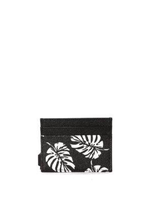 Dolce & Gabbana: wallets & purses online - Leaf print card holder