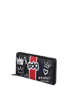 Dolce & Gabbana: wallets & purses online - Leo and graffiti print wallet