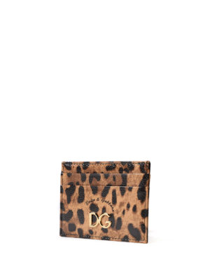 Dolce & Gabbana: wallets & purses online - Leo print card holder
