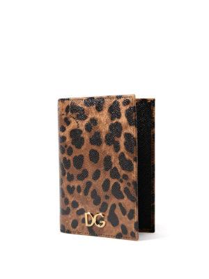 Dolce & Gabbana: wallets & purses online - Leo print Dauphine passport case
