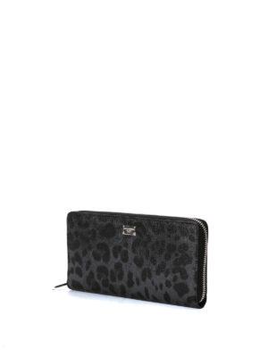 Dolce & Gabbana: wallets & purses online - Leo print zip around wallet