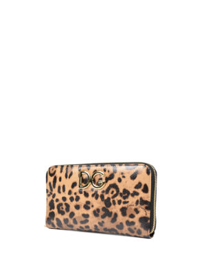 Dolce & Gabbana: wallets & purses online - Leo printed leather wallet
