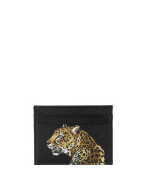 Dolce & Gabbana: wallets & purses online - Leopard print leather card holder