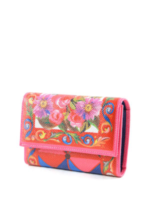 Dolce & Gabbana: wallets & purses online - Mambo print leather trifold wallet