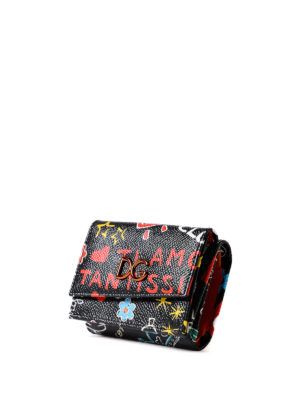 Dolce & Gabbana: wallets & purses online - Mural print Dauphine leather wallet