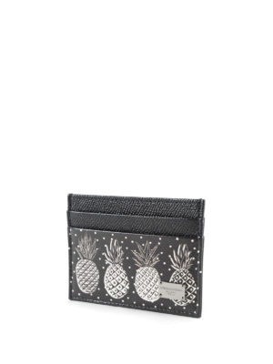 Dolce & Gabbana: wallets & purses online - Pineapple leather card case