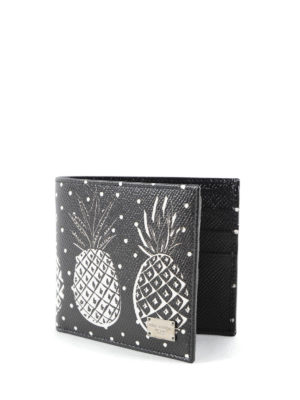 Dolce & Gabbana: wallets & purses online - Pineapple leather wallet