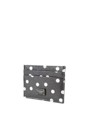 Dolce & Gabbana: wallets & purses online - Polka dot leather card holder