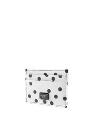 Dolce & Gabbana: wallets & purses online - Polka dot leather card holder