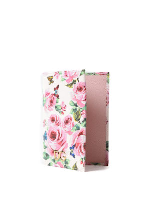 Dolce & Gabbana: wallets & purses online - Rose print passport and card case