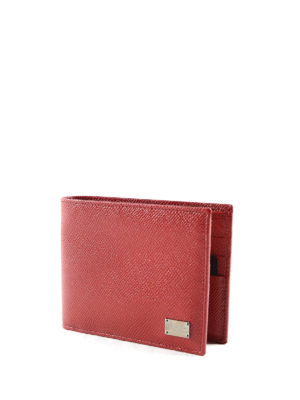 Dolce & Gabbana: wallets & purses online - Solid leather bifold wallet