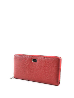 Dolce & Gabbana: wallets & purses online - Solid leather zip around wallet