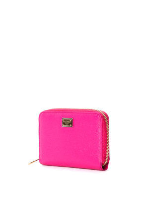 Dolce & Gabbana: wallets & purses online - Zip around dauphine leather wallet
