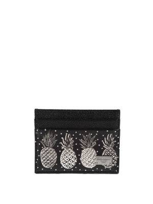 Dolce & Gabbana: wallets & purses - Pineapple leather card case