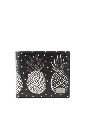 Dolce & Gabbana: wallets & purses - Pineapple leather wallet