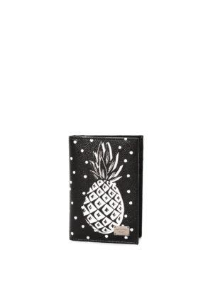 Dolce & Gabbana: wallets & purses - Pineapple print bi-fold wallet