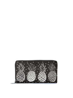 Dolce & Gabbana: wallets & purses - Pineapple print zip around wallet