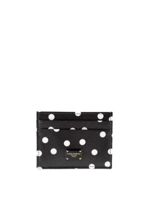 Dolce & Gabbana: wallets & purses - Polka dot leather card holder
