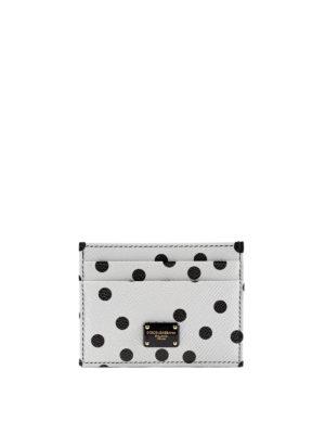 Dolce & Gabbana: wallets & purses - Polka dot leather card holder