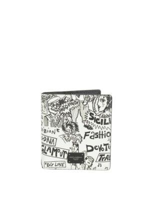 398c278023 DOLCE & GABBANA: portafogli - Portacarte bifold in pelle Dauphine stampata