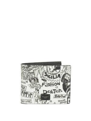 47681b4d6ea4 DOLCE & GABBANA: portafogli - Portafoglio in pelle Dauphine stampata. Dolce  & Gabbana. Printed Dauphine leather bifold wallet
