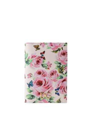 Dolce & Gabbana: wallets & purses - Rose print passport and card case