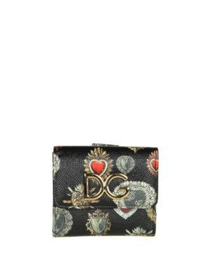 DOLCE & GABBANA: portafogli - Portafoglio con stampa cuori sacri