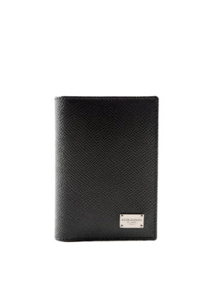 Dolce & Gabbana: wallets & purses - Solid leather bifold card holder