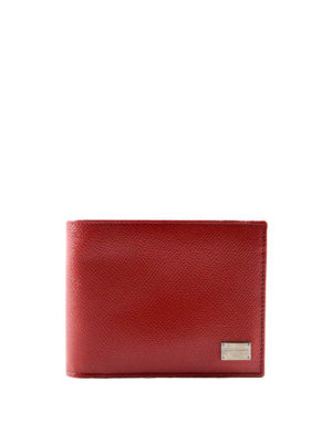 Dolce & Gabbana: wallets & purses - Solid leather bifold wallet