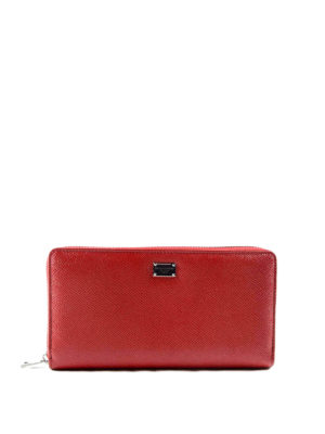 Dolce & Gabbana: wallets & purses - Solid leather zip around wallet