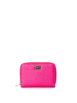 Dolce & Gabbana: wallets & purses - Zip around dauphine leather wallet