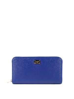 Dolce & Gabbana: wallets & purses - Zip around leather wallet