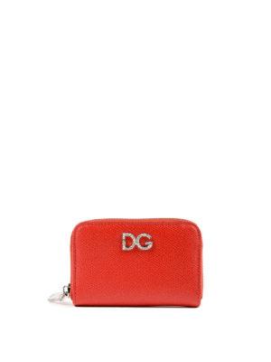 DOLCE & GABBANA: portafogli - Portafoglio zip-around small rosso