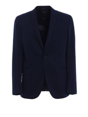 Dondup: blazers - Cotton single-breasted blazer