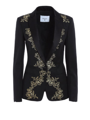 Dondup: blazers - Elysia embroidered wool blazer
