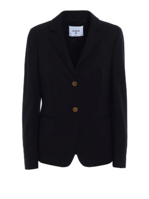 Dondup: blazers - Evanescence fitted black blazer