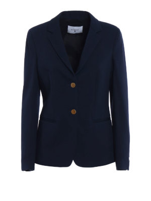 Dondup: blazers - Evanescence fitted blue blazer