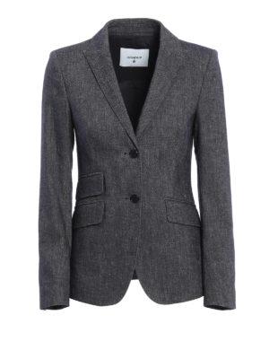Dondup: blazers - Lissa cotton and linen blazer