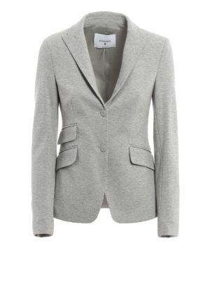Dondup: blazers - Lissa melange jersey blazer
