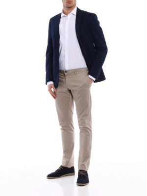 Dondup: blazers online - Cotton single-breasted blazer