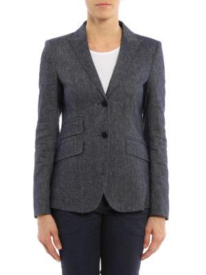 Dondup: blazers online - Lissa cotton and linen blazer