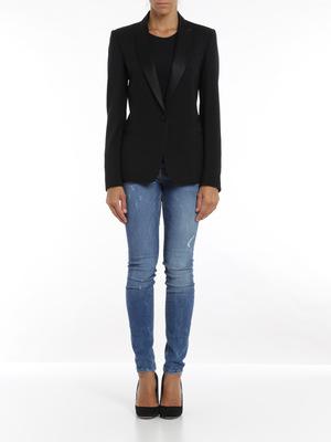 Dondup: blazers online - Satin revers blazer