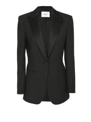 DONDUP: giacche blazer - Giacca smoking in misto lana