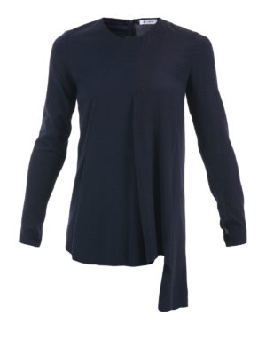 Dondup: blouses - Asymmetric ruffled blouse