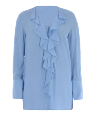 Dondup: blouses - Bisa frilled blouse