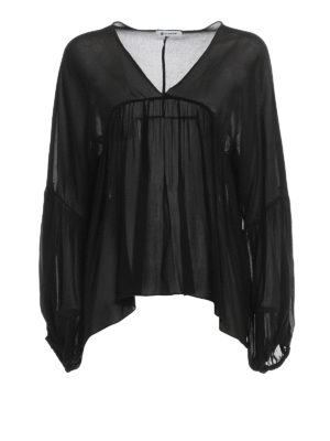 Dondup: blouses - Manon puff sleeved blouse