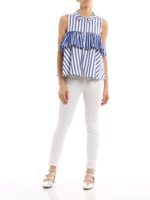 Dondup: blouses online - Diphda flounced sleeveless blouse
