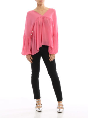 Dondup: blouses online - Manon puff sleeved blouse